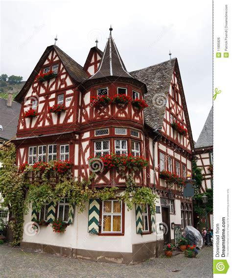altes haus de altes haus altes haus in bacharach deutschland lizenzfreies stockbild bild 11895826