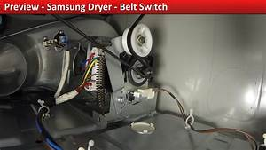 Belt Switch Rear Access - Dv422ewhdwr Samsung Dryer