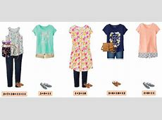 Summer Cute Girl Outfits Mix and Match Capsule Outfit