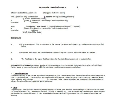commercial lease agreement template word 15 word rental agreement templates free free premium templates