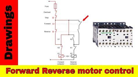 forward motor diagram reversing contactors
