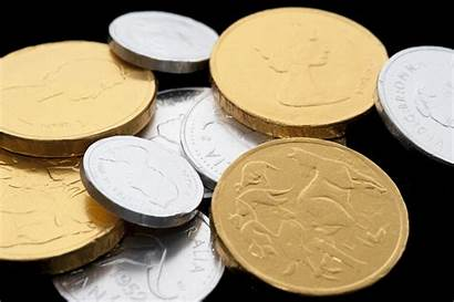 Gold Coins Candy Silver Festive Chocolate Wrapped