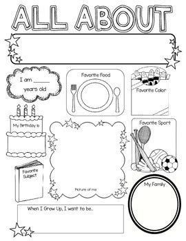 All About Me Poster by kelly cook | Teachers Pay Teachers