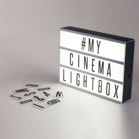 cinema box led light original cinema lightbox battery powered led lights