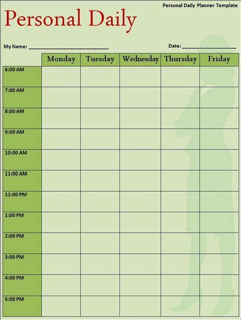 daily planner template  work pinterest planner