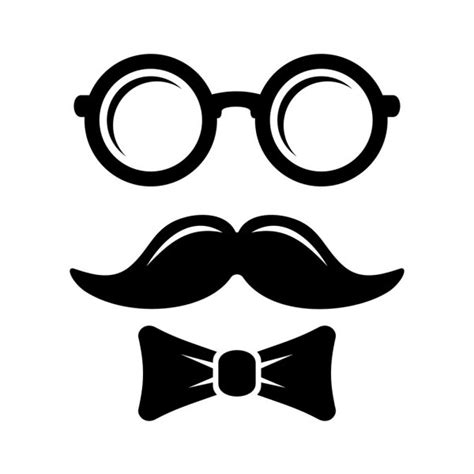 drukowanie  love okulary hipster  wasy tlo wektor