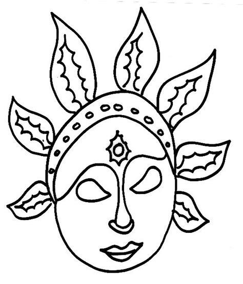 Coloriage Masque