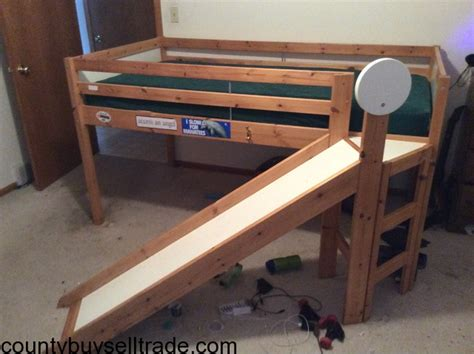 Loft Bed With Slide Ikea by Ikea Loft Bed With Slide Hingham County Buy Sell Trade