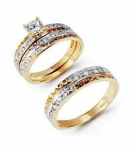 Gold Wedding Rings For Her Wedding Promise Diamond