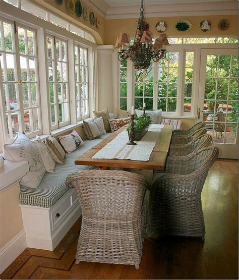 window chairs bench seating in front of kitchen windows use different chairs and table different fabric