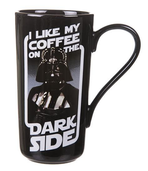 my coffee boxed darth vader i like my coffee on the side latte mug