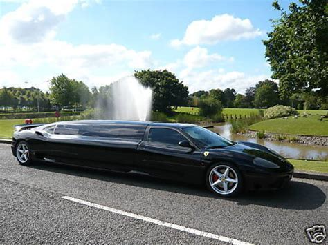 Ferrari limo limousine in birmingham. mix things: Ferrari 360 - Fastest Limo in the World