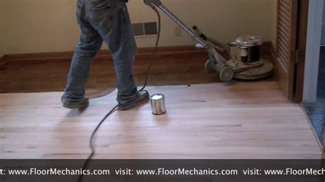 Hardwood Floor Buffing Vs Sanding by Refinishing Hardwood Floors Applying Stain With Buffer