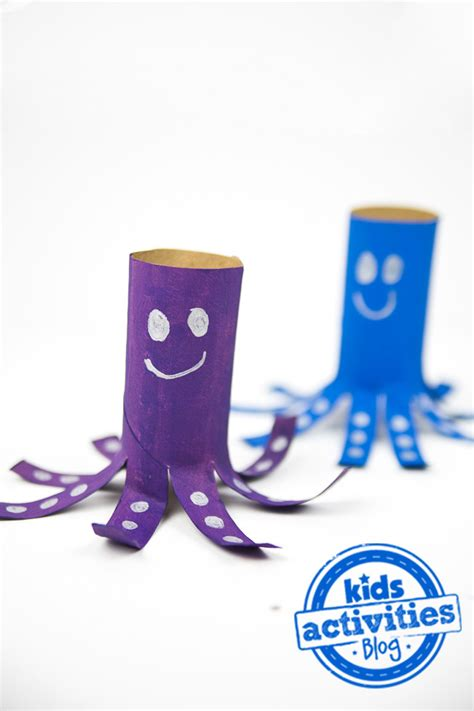 toilet paper roll craft   adorable octopus