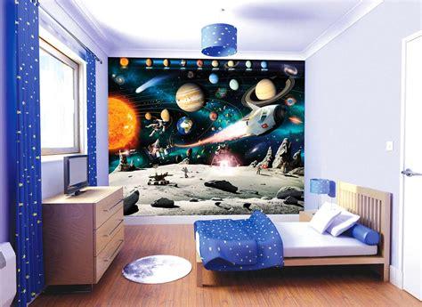 fresque murale chambre fille walltastic fototapete kinderzimmer wandbild weltraum