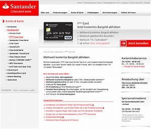 Santander 1plus Visa Card Abrechnung : santander 1plus visa card kreditkarte vergleich 07 2018 ~ Themetempest.com Abrechnung
