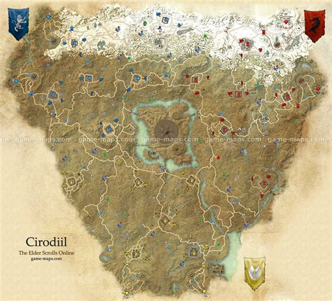 cyrodiil map  elder scrolls  game mapscom