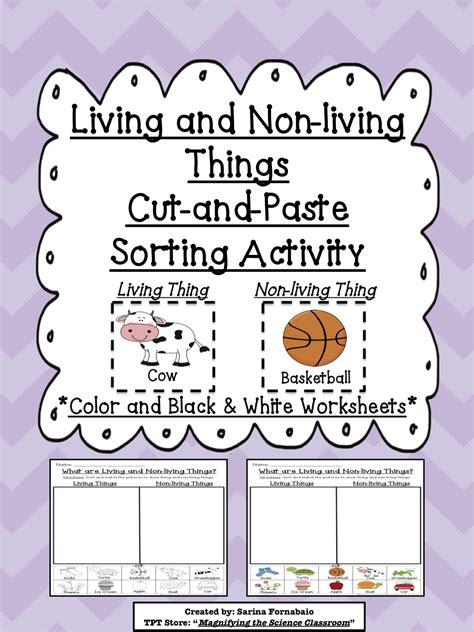 Two Living Things Kindergarten Worksheet Two Best Free Printable Worksheets