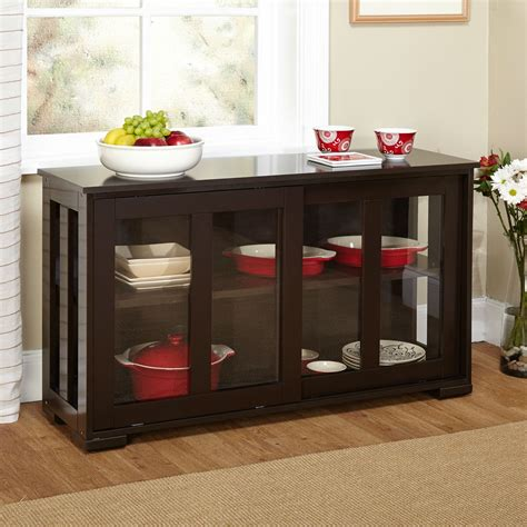 Kitchen Buffet Cabinet by Espresso Sideboard Buffet Dining Kitchen Cabinet With 2