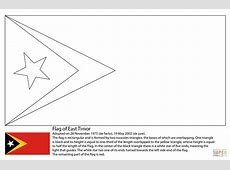 Flag of East Timor coloring page Free Printable Coloring