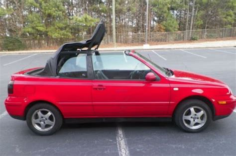 volkswagen convertible 2000 find used 2000 volkswagen cabrio convertible gls leather