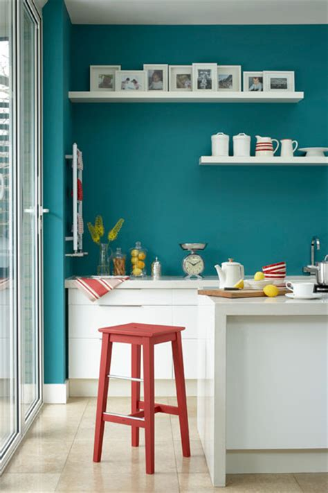 kitchen feature wall paint ideas teal blue wall paint wall feature wall paint colour ideas houseandgarden co uk