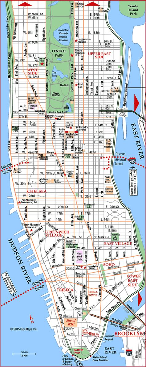 map  manhattan places id    pinterest