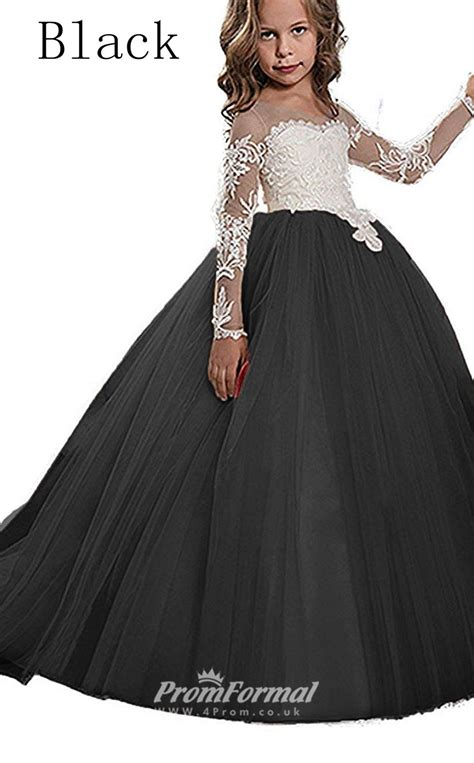 Ball Gown Long Sleeve Kids Prom Dress For Girls Ch0112