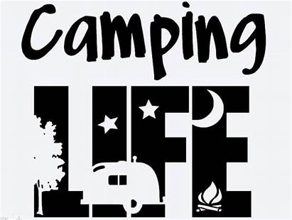 Camping Svg Signs Cricut Silhouette Vinyl Silhouettes