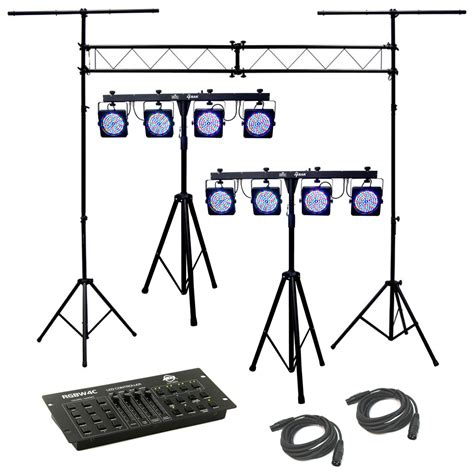 stage lighting packages 2 4bar complete stage led chauvet light package with 2