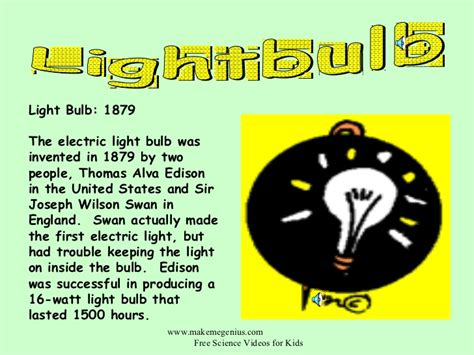light bulb invention facts iron