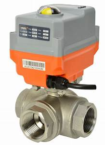 Electric Stainless Steel 3 Way Ball Valve With Ava Smart