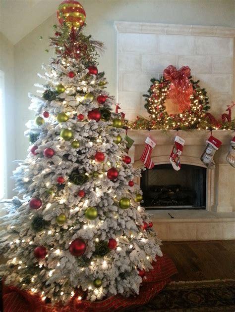flocked christmas tree atc  tannenbaum pinterest