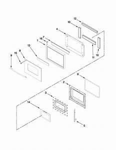 Upper Oven Door Parts Diagram  U0026 Parts List For Model Mew5627ddb16 Maytag