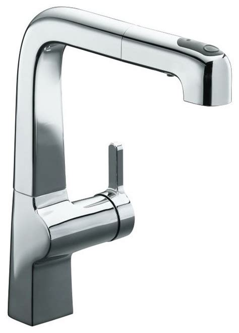 kitchen faucets contemporary kohler evoke pullout kitchen faucet contemporary