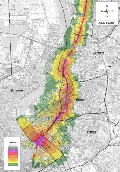 Carte De Pollution Nocturne by Qualit 233 De L Environnement Sonore 224 Bordeaux Bordeaux
