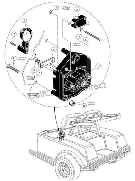 Wiring 36 Volt Club Car Motor by Club Car 36v Forward Switch Wiring Diagram