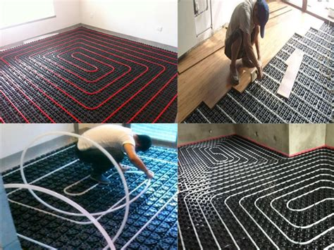 Interlocking Radiant Floor Heating Grid Module For In