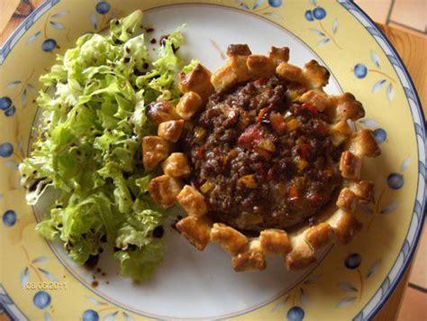 cuisine steak haché tartelette de steak haché tomate et poivron recette