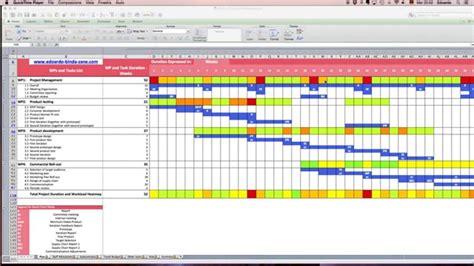 gantt chart excel walkthrough youtube