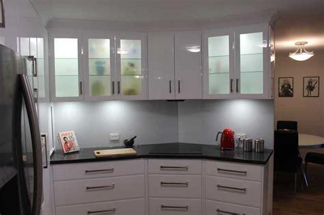 Kitchen Cabinet Island Design - slate grey and gloss white galley kitchen kitchen renovations brisbane