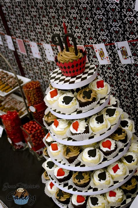 jean maries cakery poker party dessert table