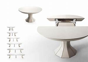 Table Ronde Extensible Design : table ronde extensible 12 personnes suisses salle fly ruben bois tulipe chene designer suisse ~ Teatrodelosmanantiales.com Idées de Décoration