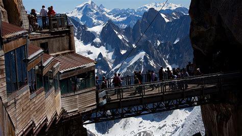 highest point  europe midi chamonix france youtube