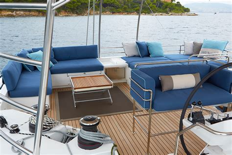 Leather Boat Cushions by Marine Upholstery Fabrics Sunbrella Fabrics
