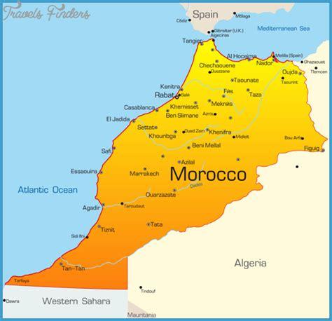 Carte Maroc Avec Villes by Morocco Map Travelsfinders