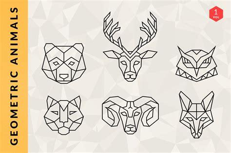 geometric animal logos volume  logo templates