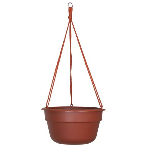 home depot hanging ls bloem 10 in terra cotta dura cotta plastic hanging basket