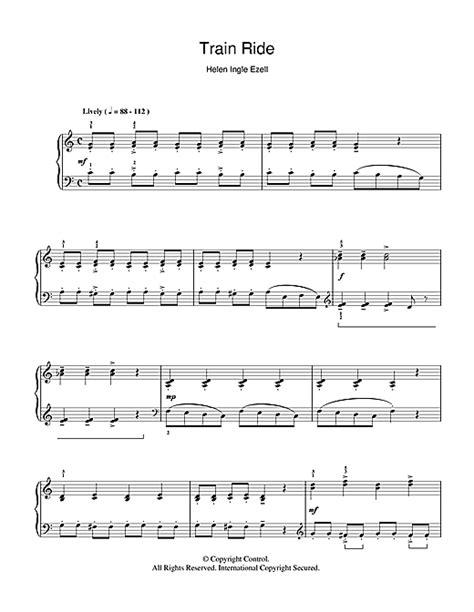 train piano sheet music train ride sheet music by helen ingle ezell piano 110943