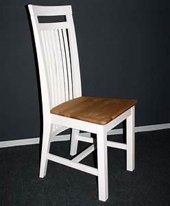 Stuhl Aus Holz Holzstuhl Sthle Kiefer Massiv Wei Gelaugt